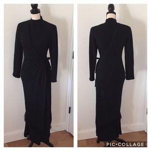 Vintage Thierry Mugler Wool Wrap Dress